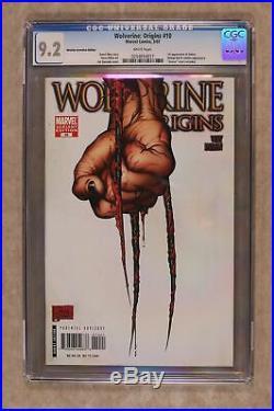 Wolverine Origins #10C Quesada Third Claw 1100 Variant CGC 9.2 2007 0254654017