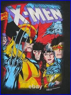X-MEN Vintage Marvel Wolverine Rogue Cyclops USA t-shirt Superhero 1993 Mens L